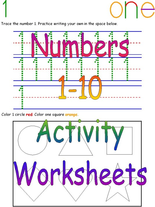 Numbers 1-10 Activity Worksheets | First Teachers